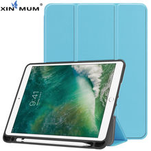 цена на Case For iPad 9.7 inch 5th 6th Generation 2018 2017 Cover With Pencil Holder For iPad Air 1 2 Silicone Soft Back Shell +Film+Pen