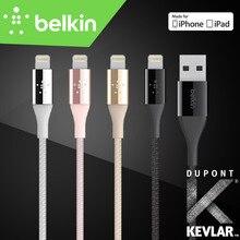 1.2 m Belkin Премиум MFi Сертифицированный 8 pin Молния чтобы Usb-кабель 2.4A (кевлар Волокна Внутри) для iPhone 7 Plus 6 s для iPad