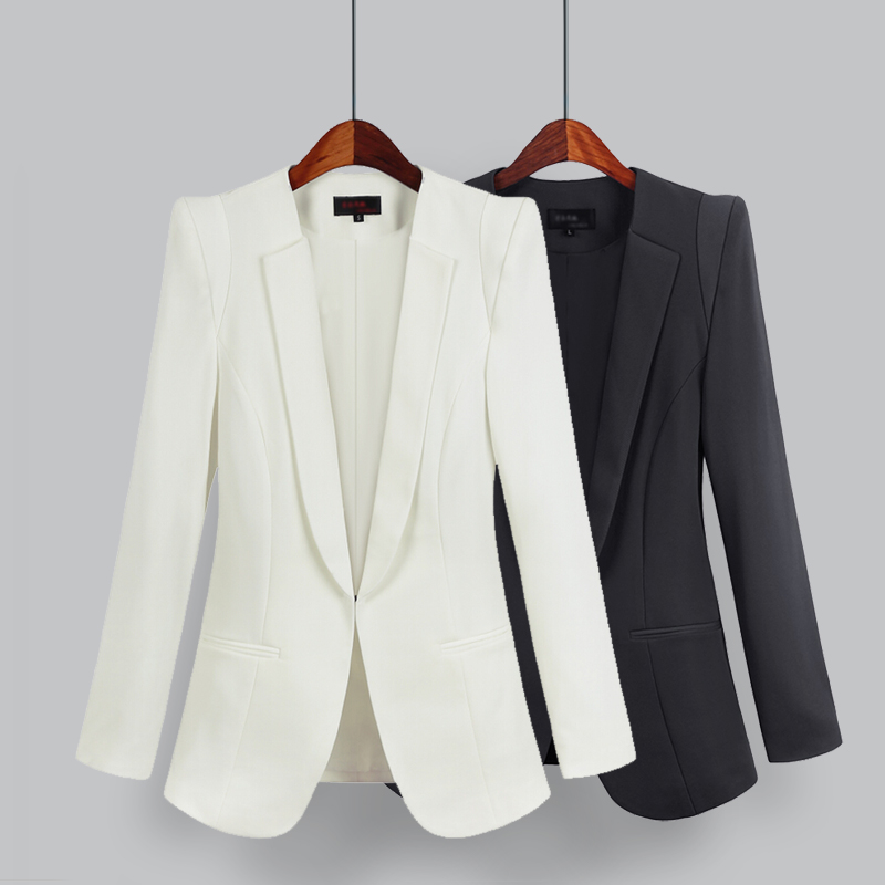 Sanishroly Spring Autumn Women Basic Suit Jackets Slim Business Suit Coat Lady Long Sleeve OL Office Outwears Plus Size 5XL S501