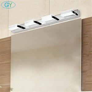 Image 5 - L16/35/50/68cm espelho luz led banheiro lâmpada de parede moderna armário cromo iluminacion led vanidad passpiegels luz luces