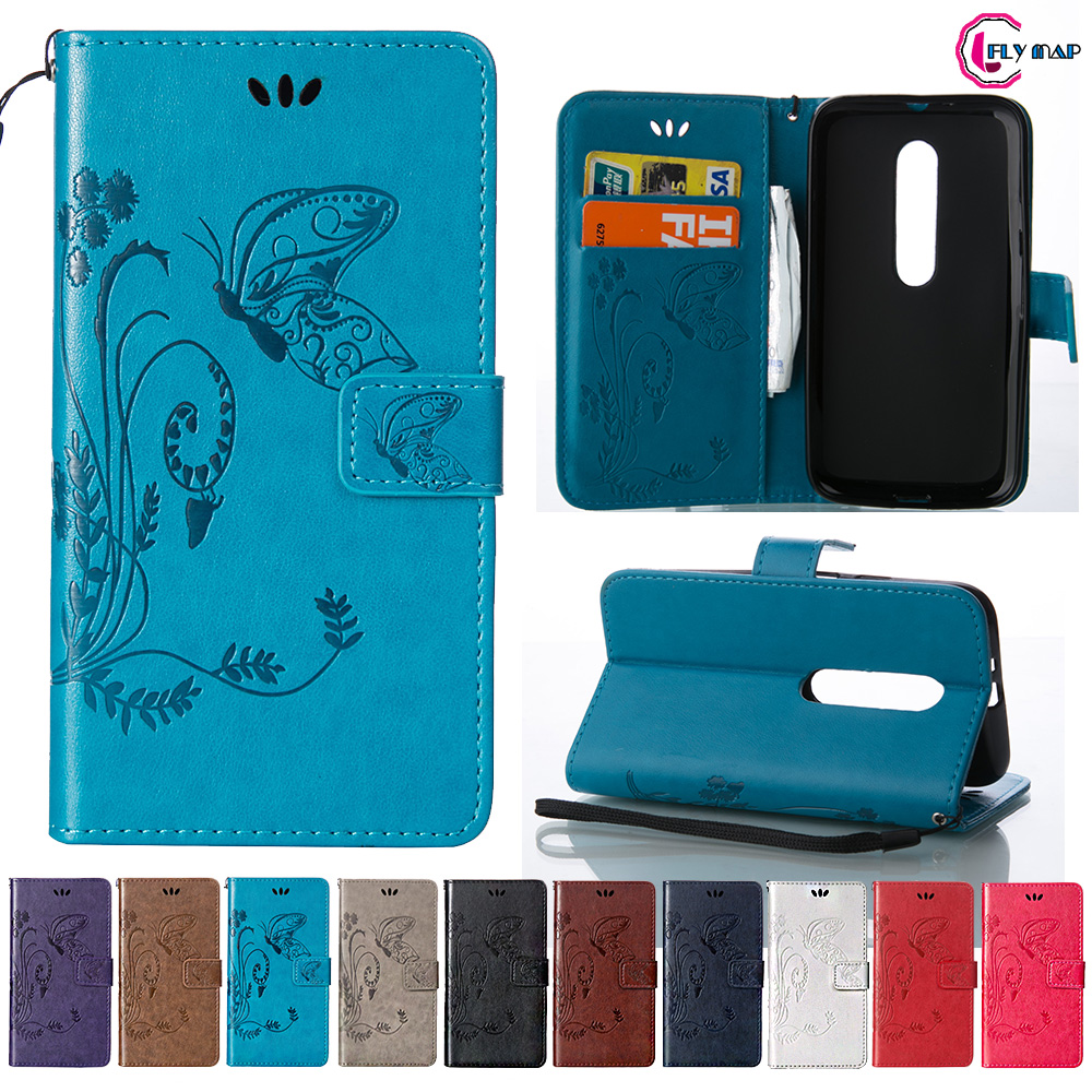 sports shoes e968b b61df US $4.22 10% OFF|Coque for Motorola Moto G3 Case Phone Leather Cover for  Motorola Moto G 3 3rd Gen XT1550 XT1542 Retro Butterfly Wallet Flip Case-in  ...