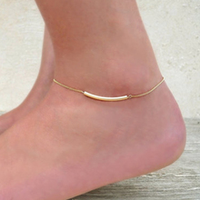 New Fashion Summer jewelry U Tube Anklet Gold  Tube Anklet Chain    JK013