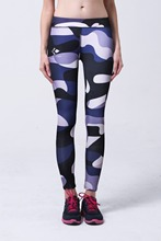 Summer Style Skinny Women Cow Pattern Digital Print Sport  Fitness Leggings Athletic Leggins Elastic Exercise Running Leggings