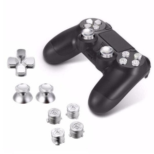 Image 5 - Metal Analog Joystick ThumbStick Grip Caps+Dpad Action D Pad Buttons for Sony Playstation Dualshock 4 PS4 DS4 Gamepad Controller
