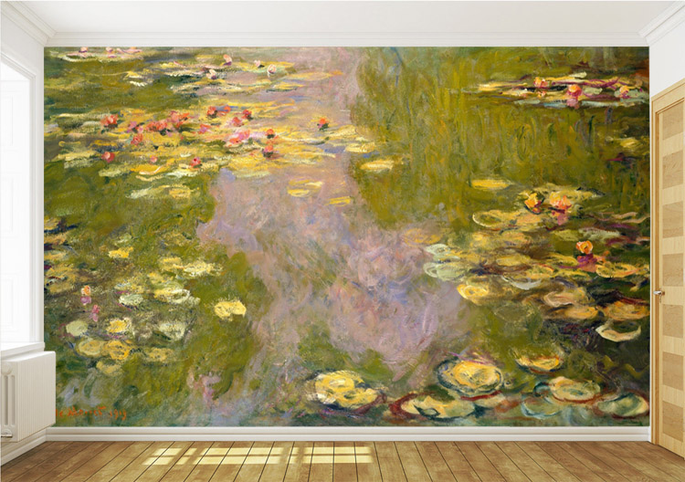 The Water Lily Murals 3D Custom Wallpaper Claude Monet Painting Photo Room Decor Bedroom Living Shop Sitting In Wallpapers From Home