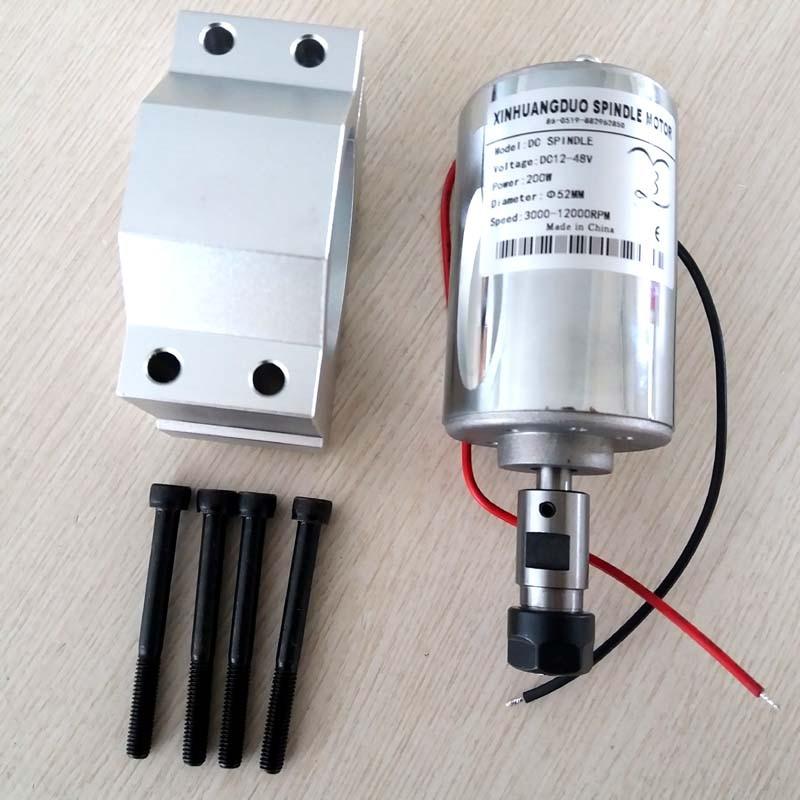 Machine de gravure moteur de broche cc ER11 3.17mm 200W brosse de broche haute vitesse refroidi par Air moteur de broche PCB et support 1 ensemble