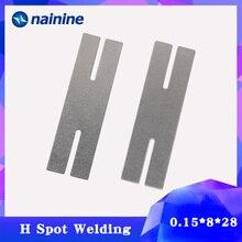100 шт. 0,15*8*28 H никелированные стальные полосы ремень листы для аккумуляторная машина для точечной сварки сварочные шайбы HW291
