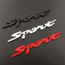 Auto Metal SPORT Car Side Fender Rear Trunk Emblem Badge Decal Sticker For renault clio duster megane 2 seat leon mk3