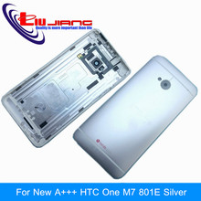 For HTC M7 801e 801n 801s cover back case door new  battery housing with sim card tray