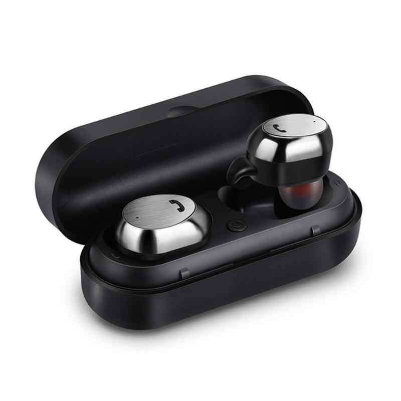 M9 Tws Benar Earbud Nirkabel Mikro Earpiece Mini Kembar Headset Stereo Telinga Bluetooth Earphone Headphone dengan Kotak 1115