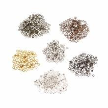 200pcs/lot Metal Crimps Beads Crimp End Diameter 2mm 2.5mm 3mm Findings Silver/Gold/Antique Bronze Color Jewelry