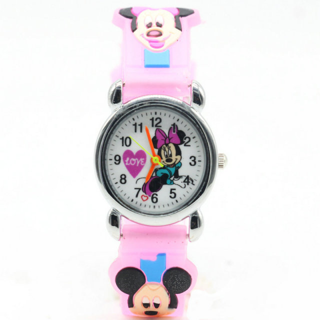 3D Cartoon Lovely Kids Girls Boys Children Students Quartz Wrist Watch Very Popu