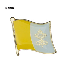 Vatikan Bendera Pin Lapel Pin Bros Ikon 1 PC KS-0058(China)