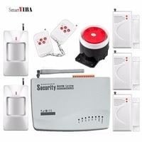 SmartYIBA Wireless GSM Autodial Intruder Alarm System 433Mhz PIR Motion Detector Door Gap Sensor Alarm Siren