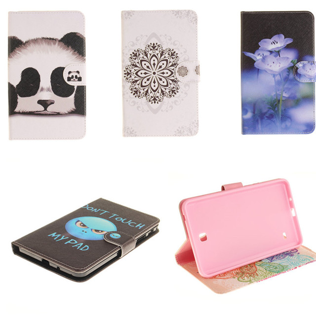 TX Soft Cover For Samsung Galaxy Tab 4 7.0 SM-T230 SM-T231 T235 tablet Cases PU Leather Flip Stand Case For T231 T230 w/