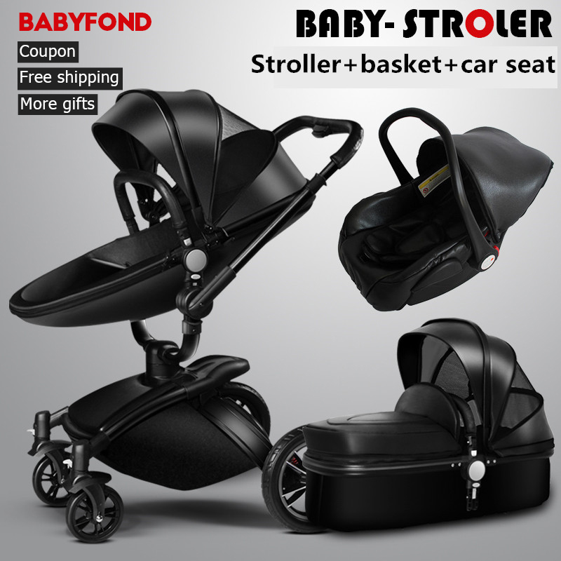 Free Ship! Brand baby 3PCS 2017 Hot Sale New Brand Baby Strollers 3 In 1 Leather Pram Europe Car Seat Basket Bassinet gifts hot sale board game never have i ever new hot anti human card in stock 550pcs humanites for against sealed ship free shipping