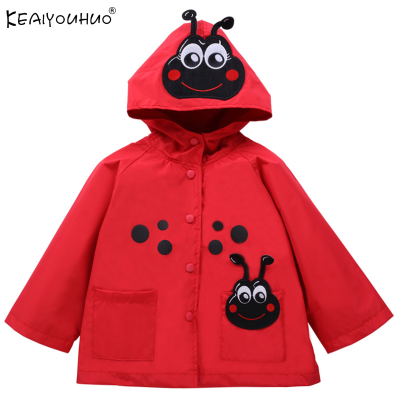 Jackets Outerwear Raincoat Girls Waterproof Cartoon And for Kids Windbreaker Boys High-Quality