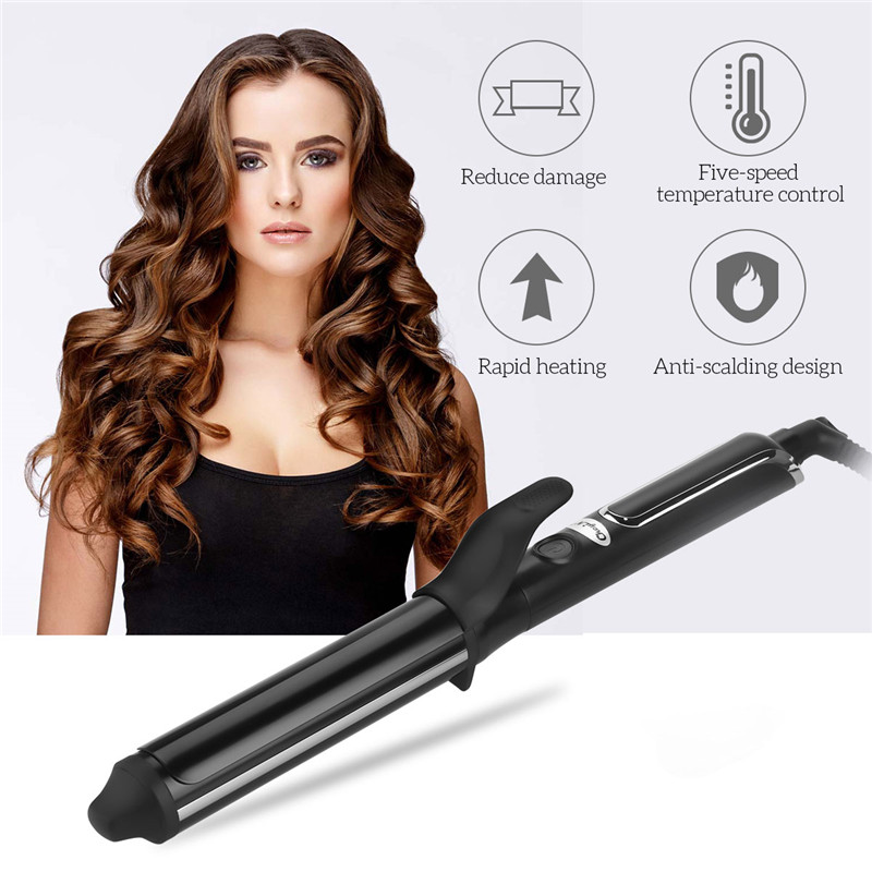 Us 14 94 41 Off 32mm Barrels Professional Corrugation Hair Curling Iron Fast Heating Deep Curl Wave Curler Roller Waver Styling Tools In