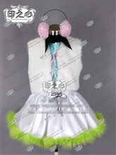 Anime Hatsune Miku Happy Synthesizer Gumi Cosplay Costume Shirt+Vests+Skirts