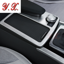 Adesivi Per mercedes w204 c180 c200 In acciaio inox pannello Console supporto di tazza interni decorativi Trim covers sticker CON GUIDA A SINISTRA