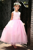 Bridesmaid Ceremonies Girl Wedding Clothes Sleeveless Princess Party Flower Fancy Girl Tutu Dress Children Costume New