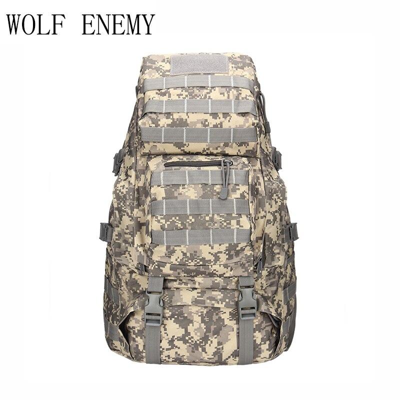 Unisexe 55L Camouflage sac à dos sacs tactique armée militaire Molle dos/sac à dos pour randonnée Camping aventure sac de voyage