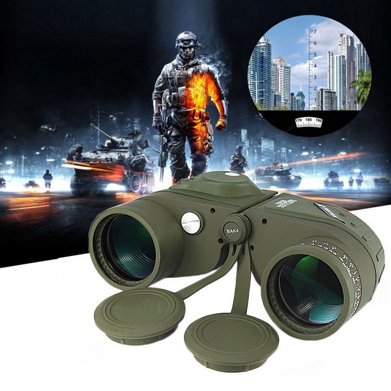 10x50 Military Professional Marine Binoculars Waterproof Digital Compass Hunting Telescope High power Lll night vision 10x50 binoculars telescope hd wide angle portable lll night vision waterproof scope compass not infrared measure the distance