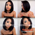 Hot Selling New Fashion Short Bob Wigs Cheap Hair High Quality Heat Resistant Synthetic Lace Front Wig For Black Women