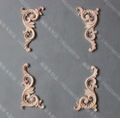 8PCS/LOT 12x6.5x0.8 Wood Decal European Furniture Accessories Solid Wood Trim