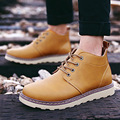 The winter men's casual shoes boots leather boots Martin British high shoes with cashmere boots tooling head shoe wholesale male
