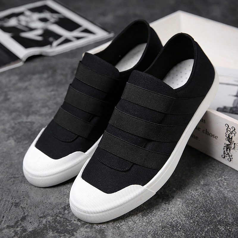 Male Shoes Adult Stretch Fabric Men Casual Shoes White Fashion Male Walking Sneakers Summer Slip On Luxury Men Shoes Casual