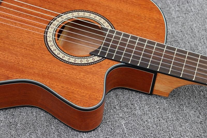Image 4 - cutway thin body classic guitar full mahoganyelectric classical guitarclassical guitarguitare guitare -