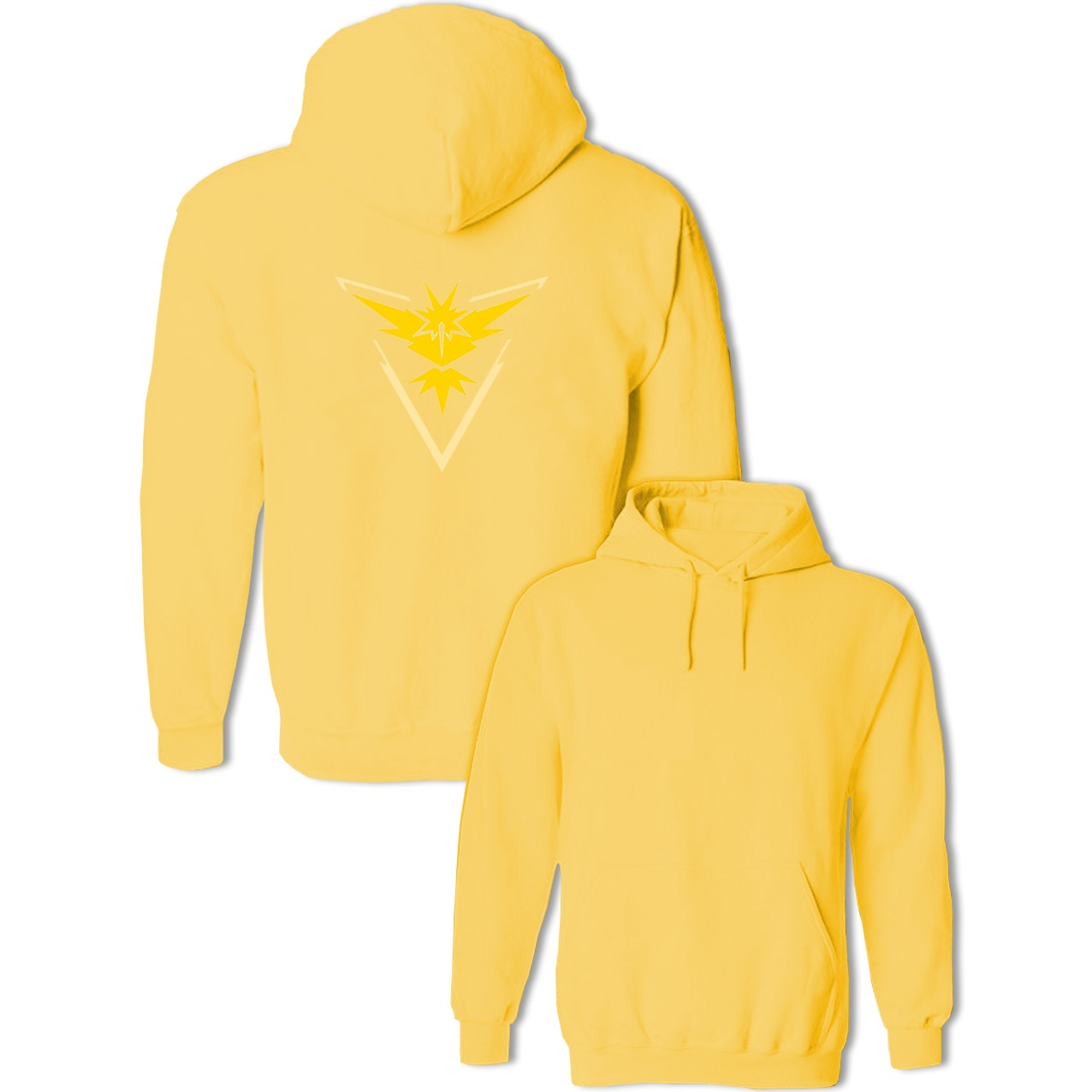 Classic Cartoon Pokemon Go Game Fans Zapdos Team Yellow Team Sweatshirts Womens Mens Hoodies Anime Costume Cosplay Pullovers