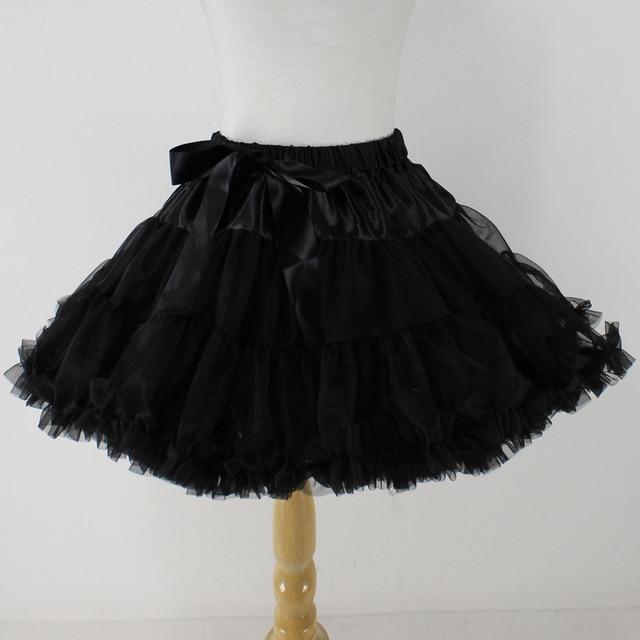 0117ff95e Black Girls Baby Tutu Pettiskirt Ruffles Layered Chiffon Skirt 2 3 4 5 6 7 8