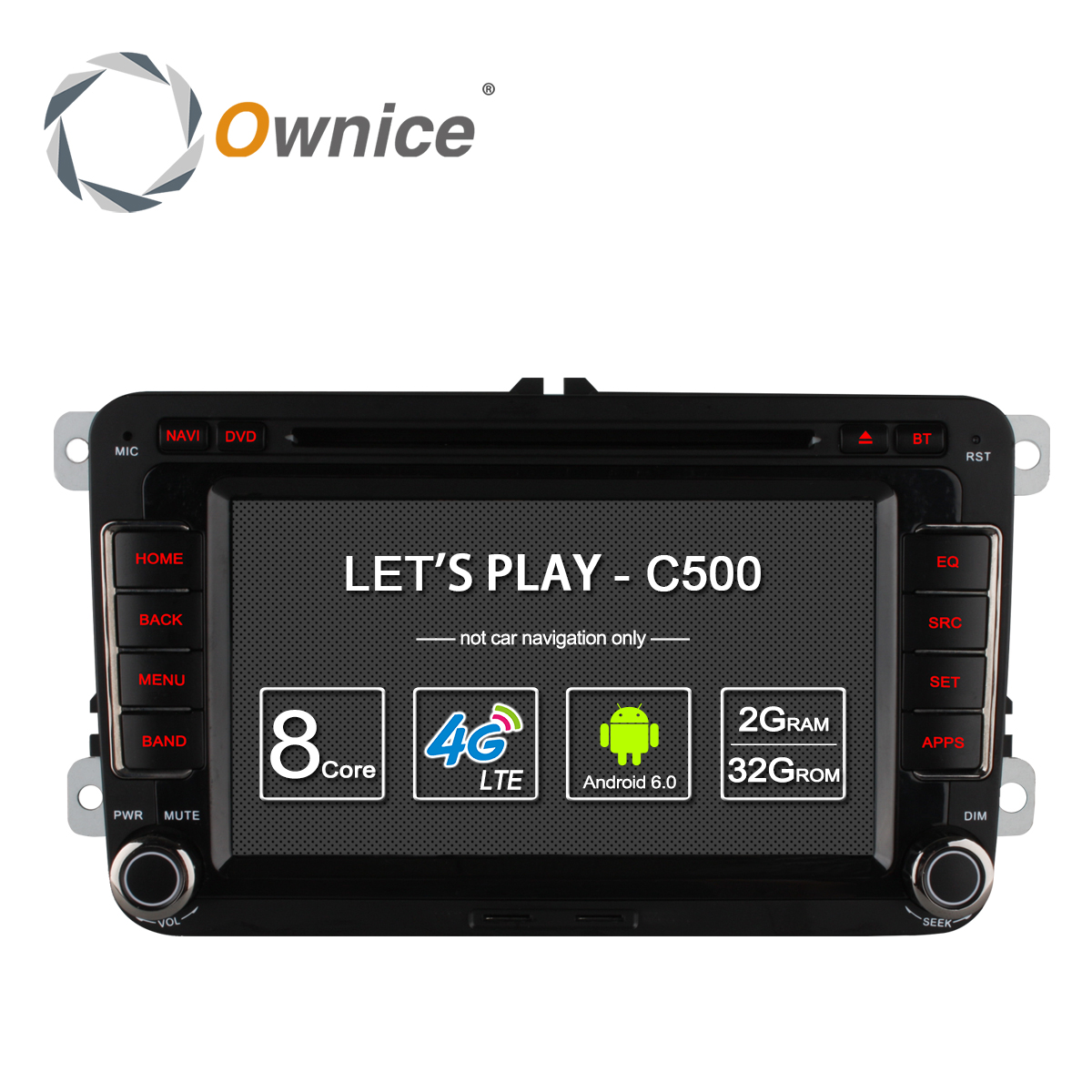 imágenes para Ownice Android 6.0 8 Núcleo 32G ROM Reproductor de DVD Del Coche Para Volkswagen Passat POLO GOLF Seat Leon Skoda Con GPS Navi 4G LTE Red