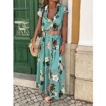 Print dress women summer nature V-Neck Casual dress women summer plus size Ladies Dress Style Feminino Vestido sukienka #G9