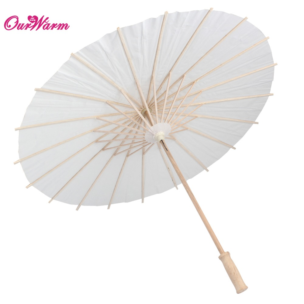White Paper Parasol Wedding Party Photography Prop Paper Umbrella ...
