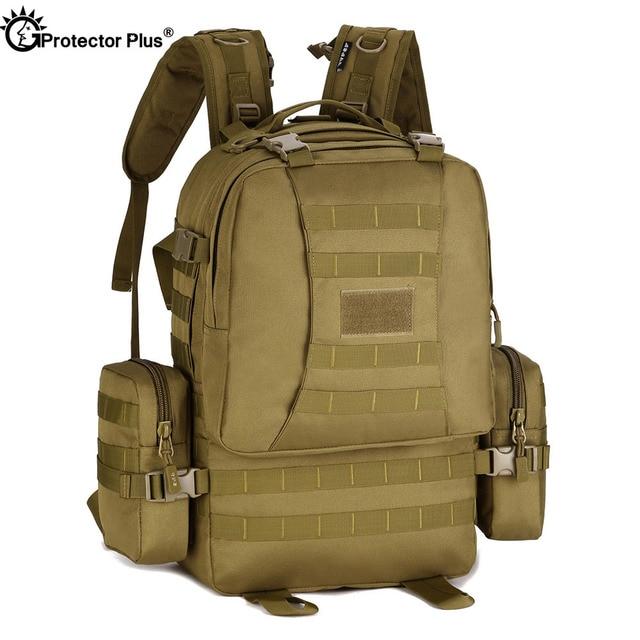 PROTECTOR PLUS Taktische Kombination Rucksack Militär Outdoor Camping Rucksack Reise Wandern Tasche Große Kapazität Rucksack 50L