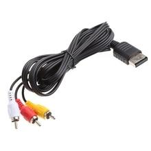 ANENG Black 1.8M/6FT RCA Audio Video AV Stereo Composite Adapter Cable For Sega Dreamcast Game Accessory Cables black 1 5m 5ft audio video av stereo composite adapter cable for sega genesis md