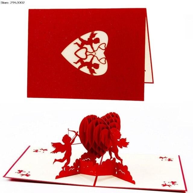 3d Papier Laser Cut Amor Liebe Herz Gruss Karte Pop Up Karten