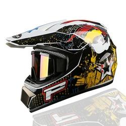 2018 Profesjonalne Wyścigi Motocross Hełm hors trasa Casque Moto Capacete Moto Casco Off-road Cartoon Dzieci Motocykl Helme