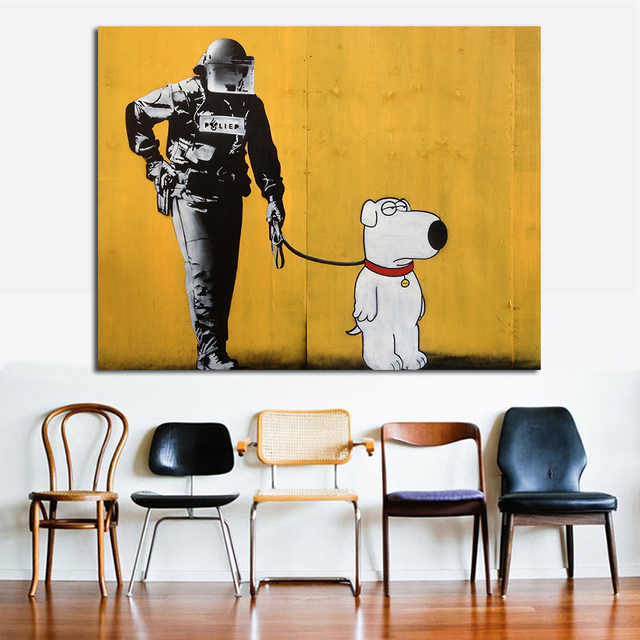 Pop art wall decoration poster on canvas wall Brian oil painting canvas living room without frame