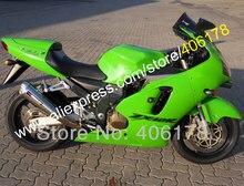 Hot Sales,Full Green ZX12R Fairing Kit for KAWASAKI Ninja ZX-12R 00-01 ZX 12R 2000 2001 ZX12R ZX-12R 2000-2001 ABS BodyKits