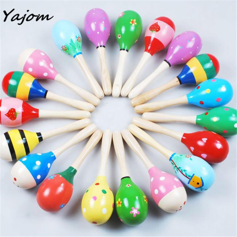 High Quality Mini Wooden Ball Children Toys Percussion Musical Instruments Sand Hammer Levert Aug10 Toy Musical Instrument