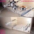 1 Unid Cocina Despensa Sacar Deslizante de Metal Cesta de Cajón Organizador Del Armario