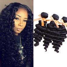 Rosa Hair Products Malaysian Virgin Hair Deep Wave 3 Bundles 6A Unprocessed Human Hair Extensions 100
