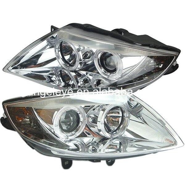 Pour BMW pour E85 Z4 LED Angel Eyes phare 2003-2008 année boîtier chromé SN