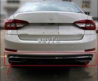 High Quality Black PP Rear Bumper Diffuser,Auto Car rear lip with chrome line for skoda Octavia 4dr or 5dr 2014 2017