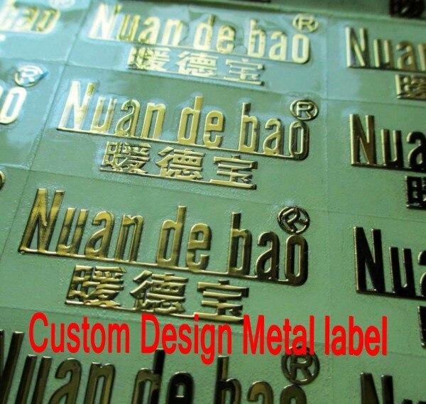 Custom design metal stickers thin metal label metal logo electroplating logo self adhesive metal stickers free