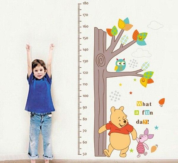 Muursticker winnie the pooh muur meten lengte grafieken stickers cartoon konijn uilen boom - Amenager een stuk in de lengte ...